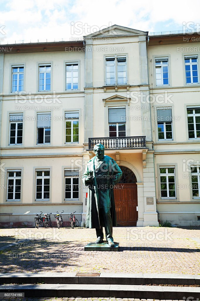 Robert Wilhelm Bunsen monument in Heidelberg stock photo