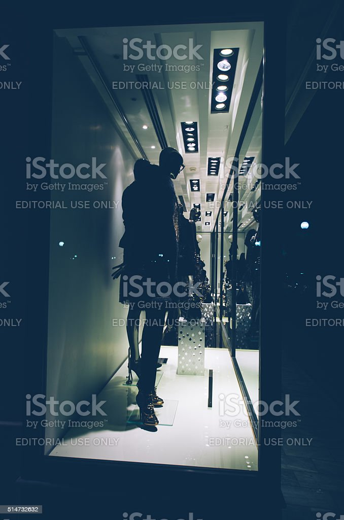 Roberto Cavalli, shop window, stock photo
