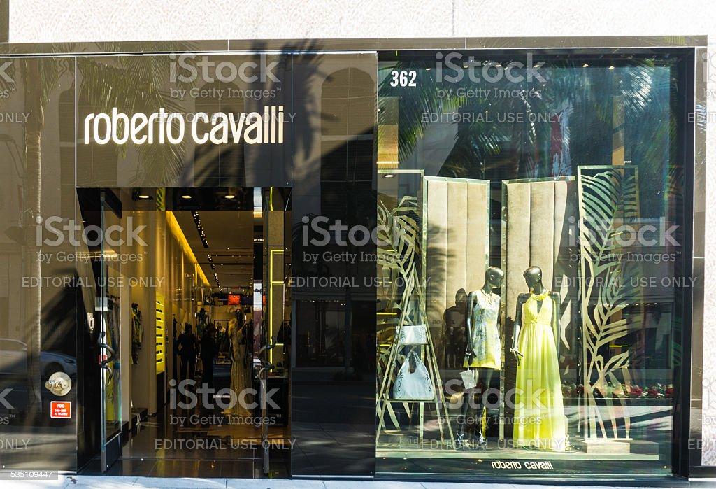 Roberto Cavalli Store Exterior stock photo