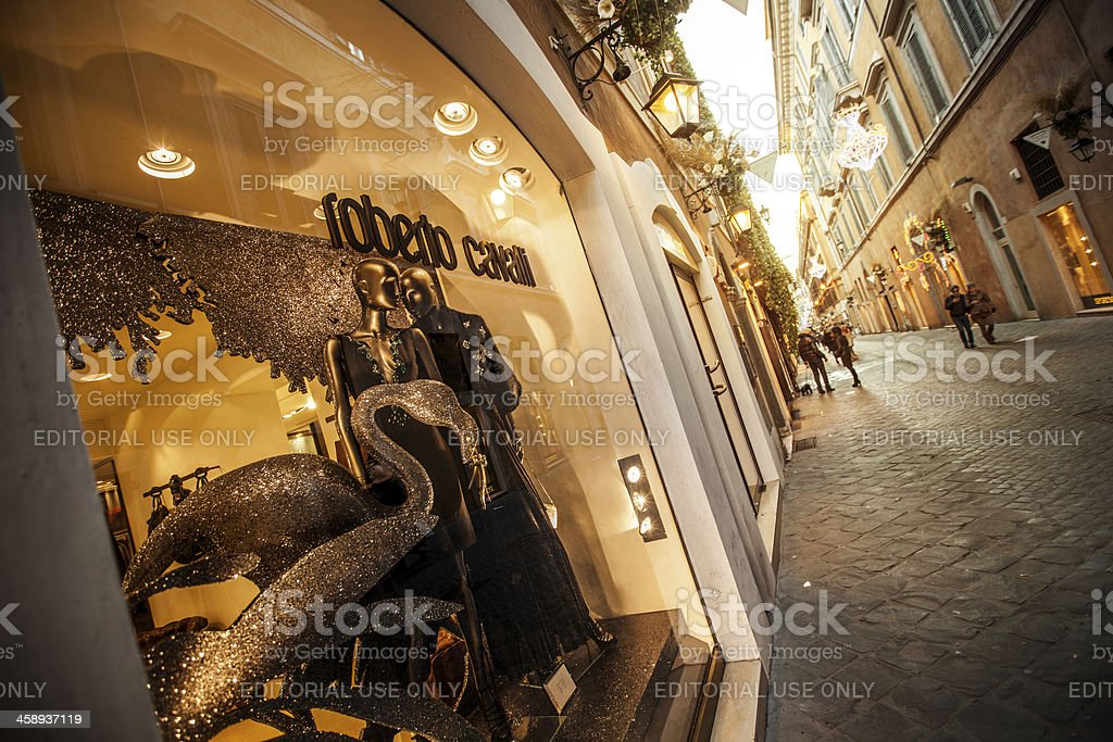 Roberto Cavalli store in Via Frattina, Rome stock photo