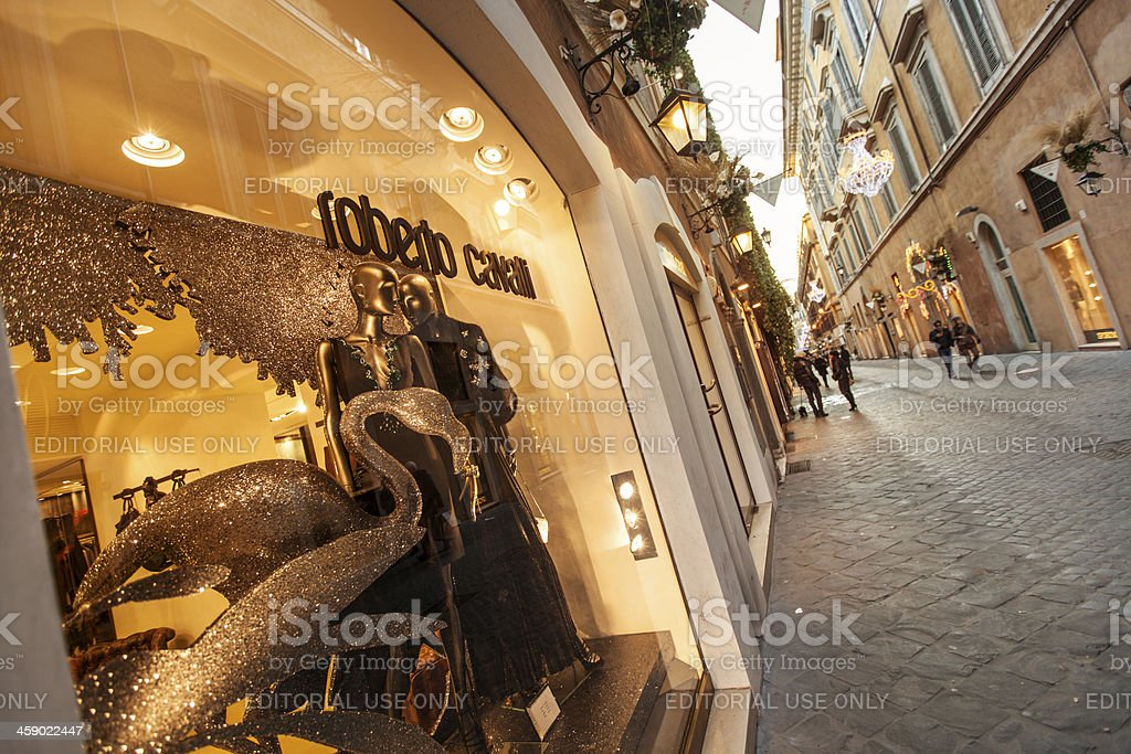 Roberto Cavalli store in Via Frattina, Rome stock photo