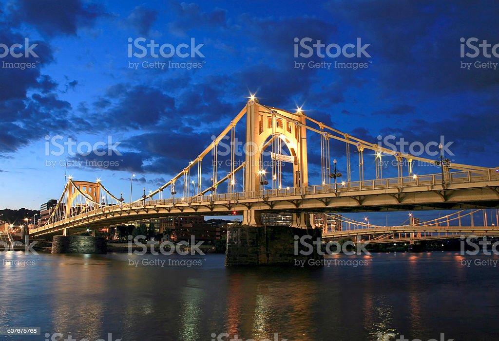 Roberto Clemente Bridge stock photo