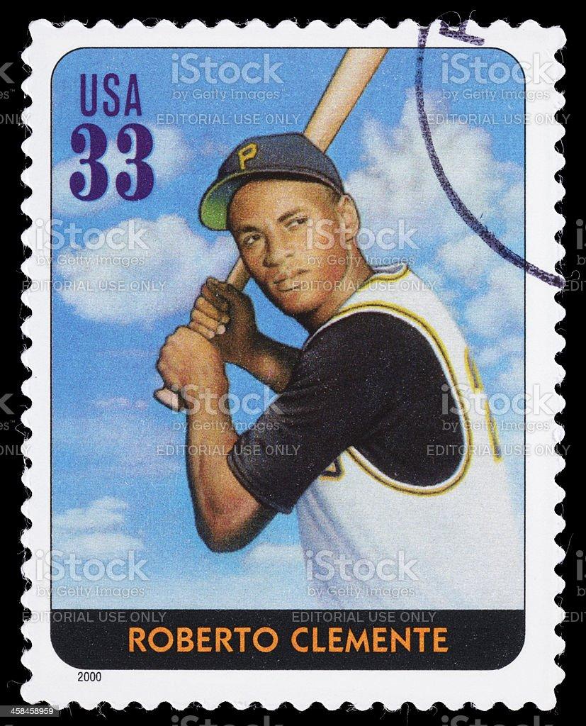 USA Roberto Clemente postage stamp stock photo