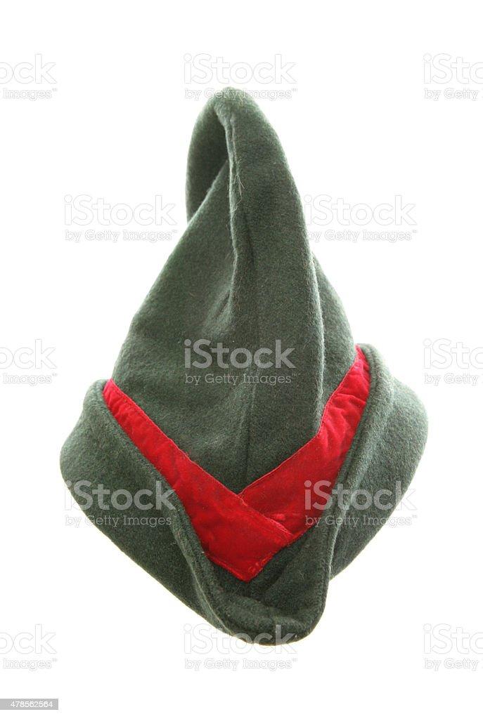 robin hood fancy dress hat stock photo