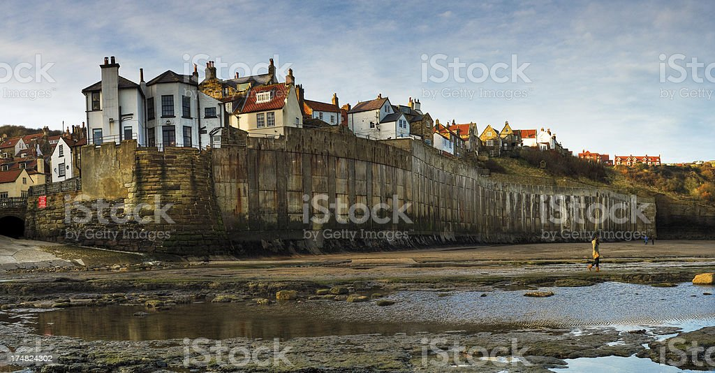 Robin Hoods Bay, Whitby, North Yorkshire, UK royalty-free stock photo