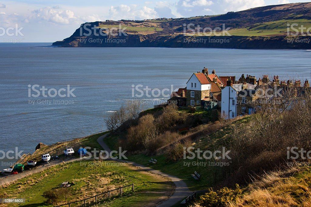 Robin Hoods Bay - Yorkshire Coast - British Isles stock photo