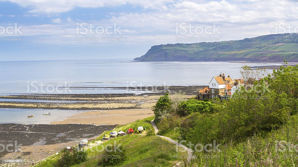 Robin Hood's Bay Yorkshire England royalty-free stock photo