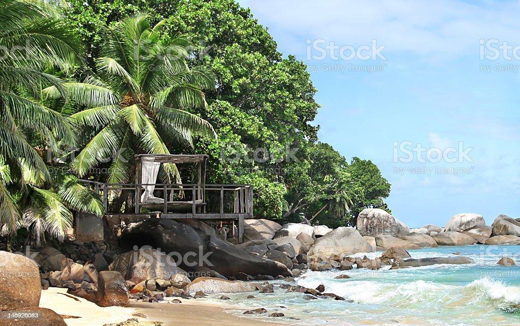 Robinson Crusoe Hideaway stock photo