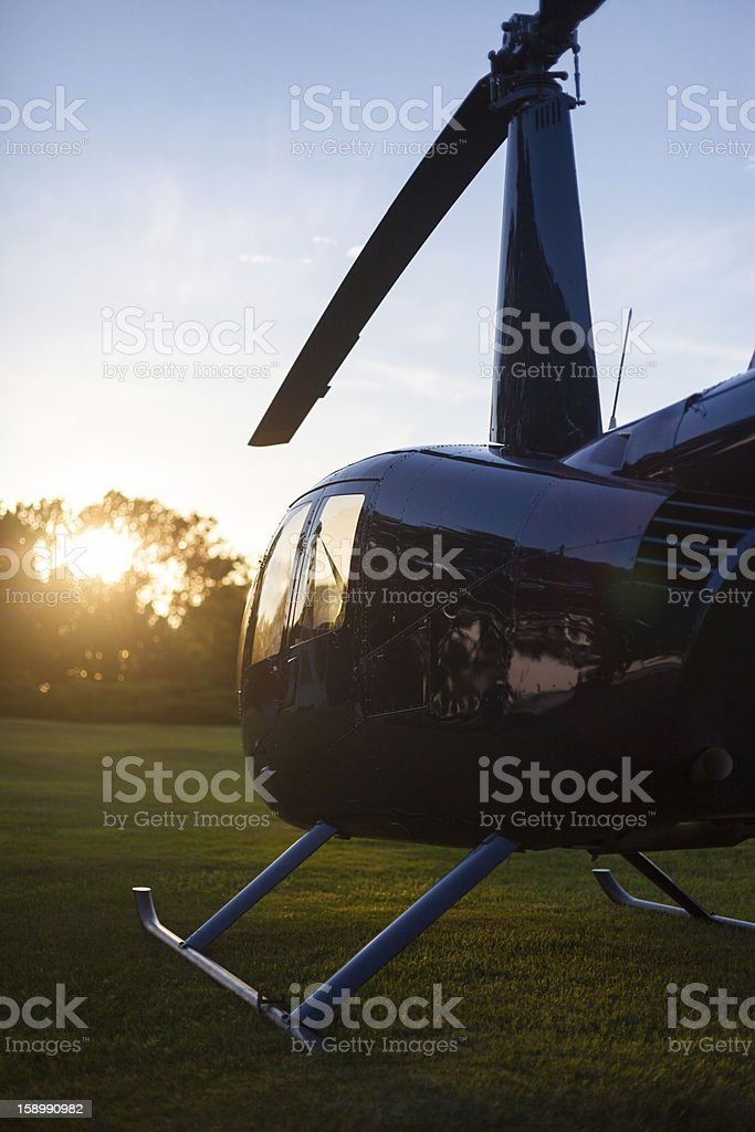 Robinson R44 helicopter royalty-free stock photo