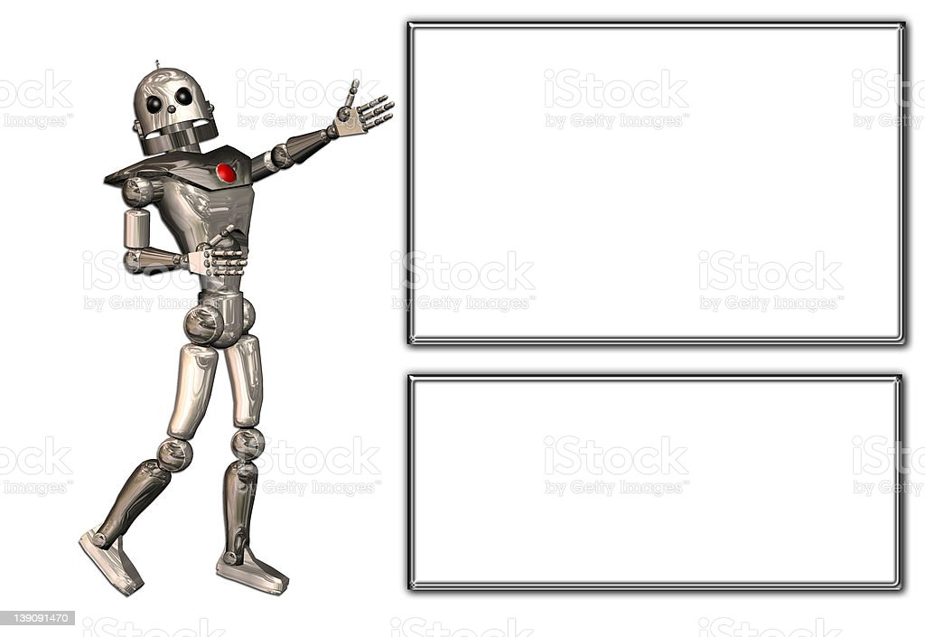 Robot Announcer royalty-free stock photo