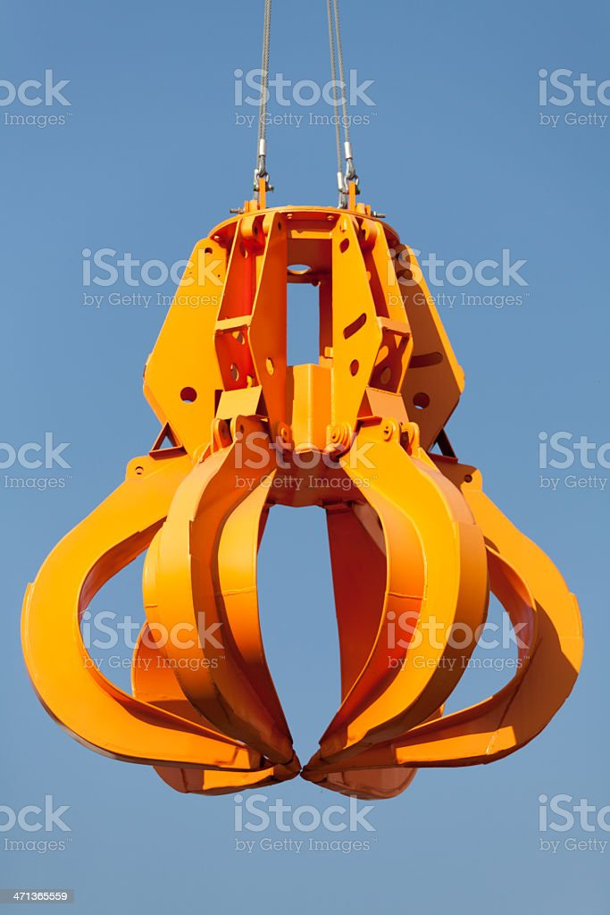 robot arm of crane royalty-free stock photo