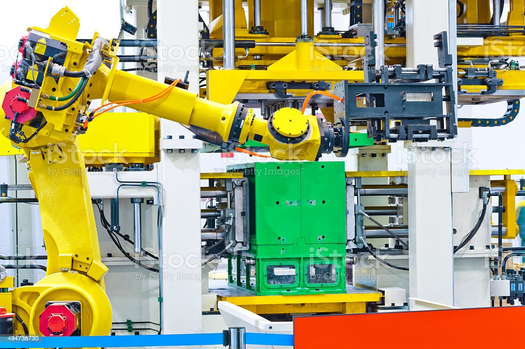 Robot arm ( Industrial robot) stock photo