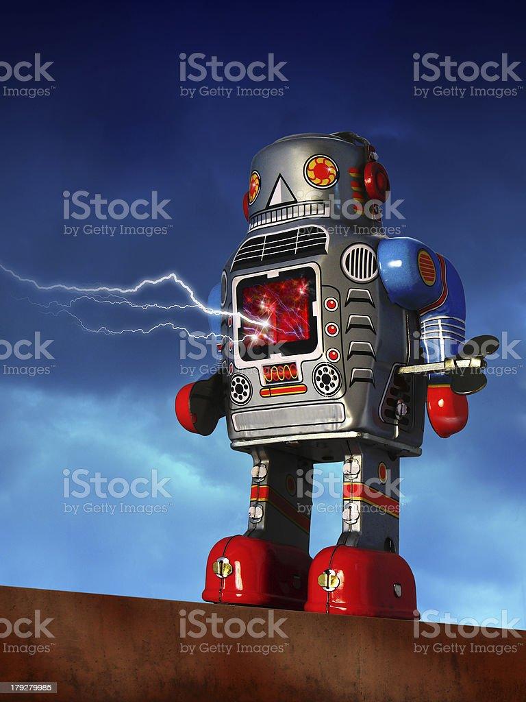 Robot Attack stock photo