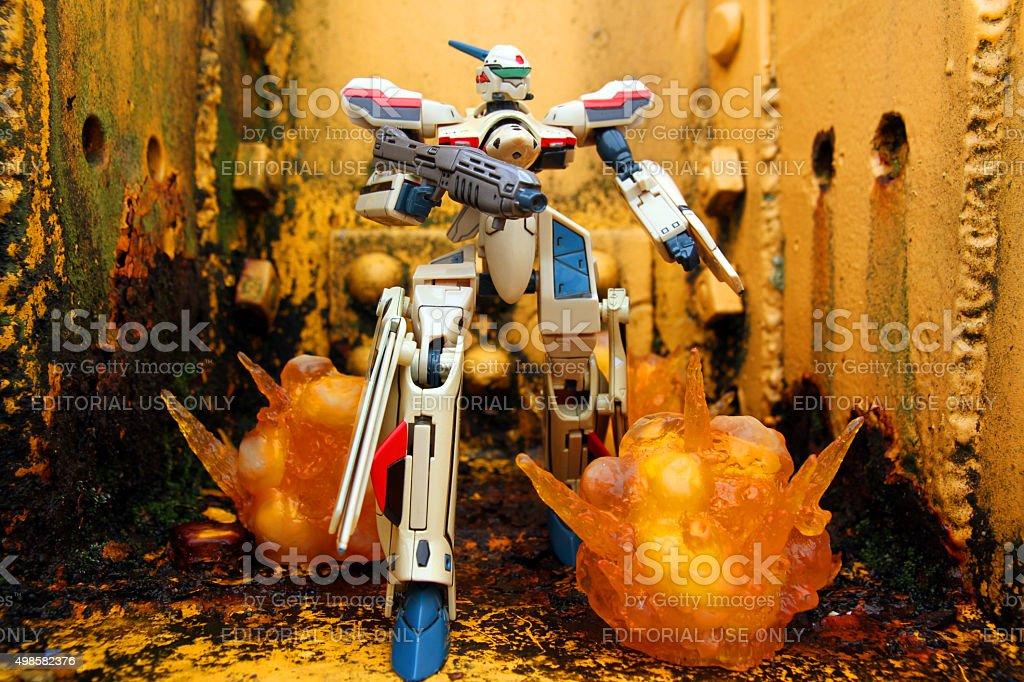 Robot Battle stock photo