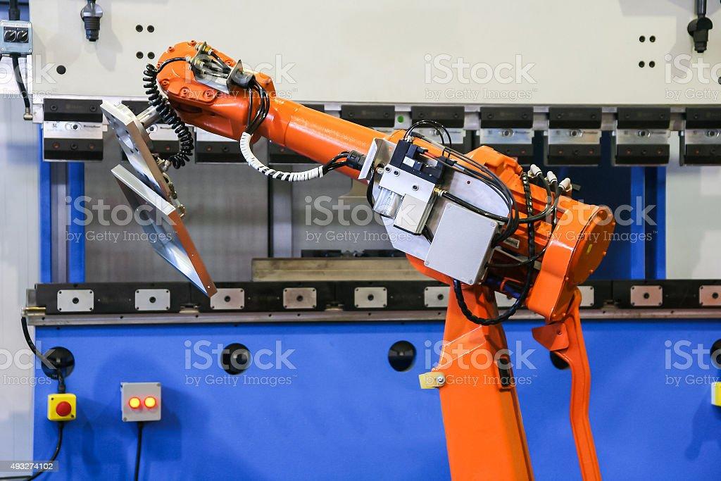 robot bending machine stock photo