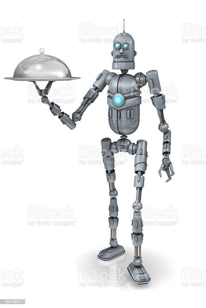 Robot butler stock photo