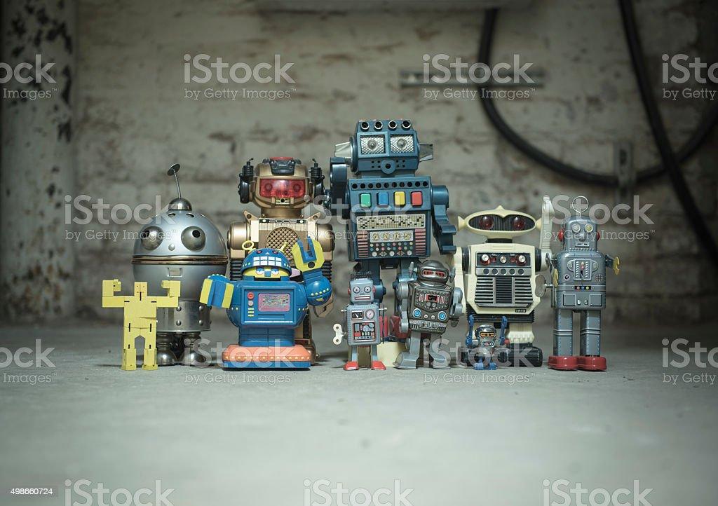 Robot Clique stock photo