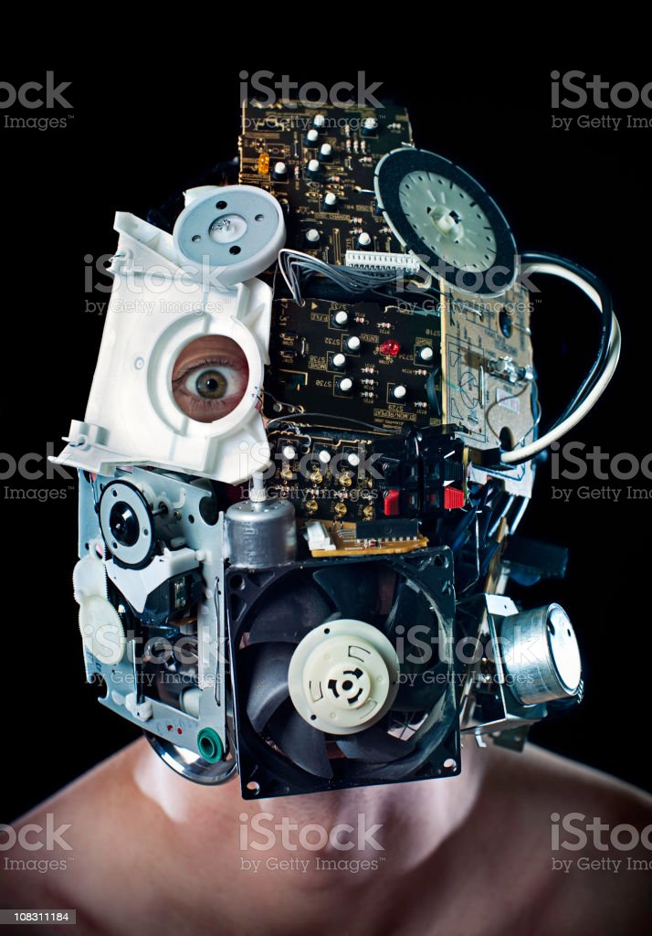 Robot Cyborg Face royalty-free stock photo