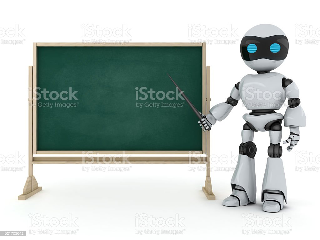 Robot e-learning stock photo