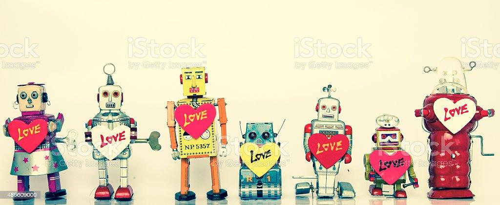 robot family stock photo