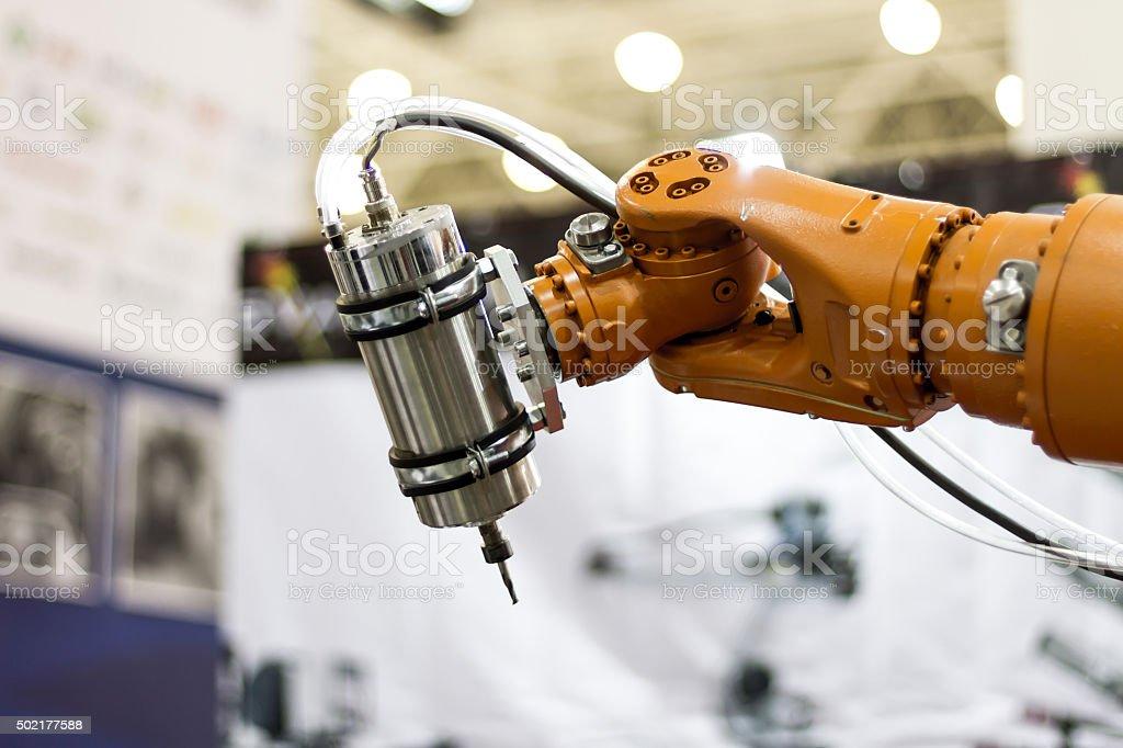Robot hand stock photo