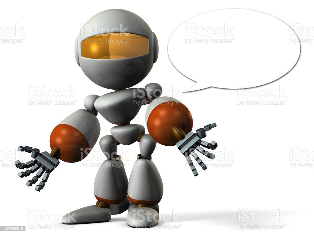 Robot has shed a bad rumor. stock photo