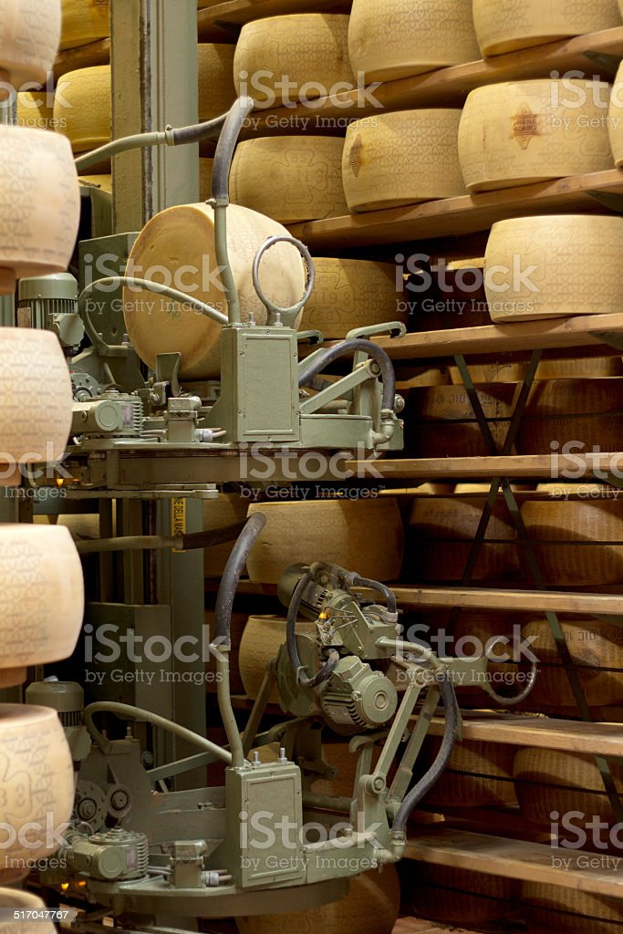 robot in a maturing storehouse stock photo