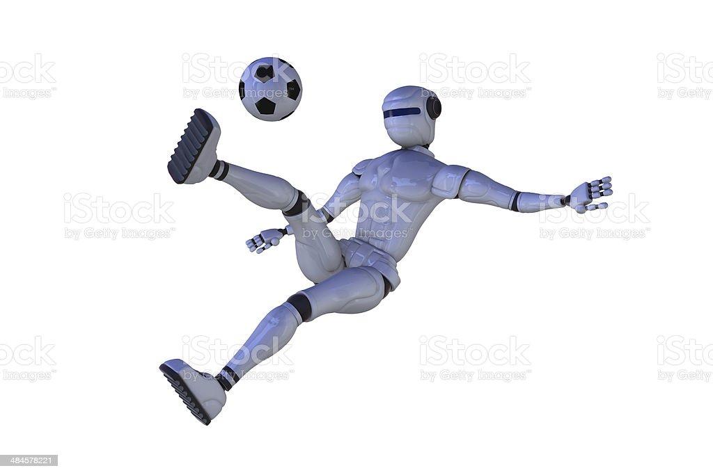 Robot is a footballer stock photo