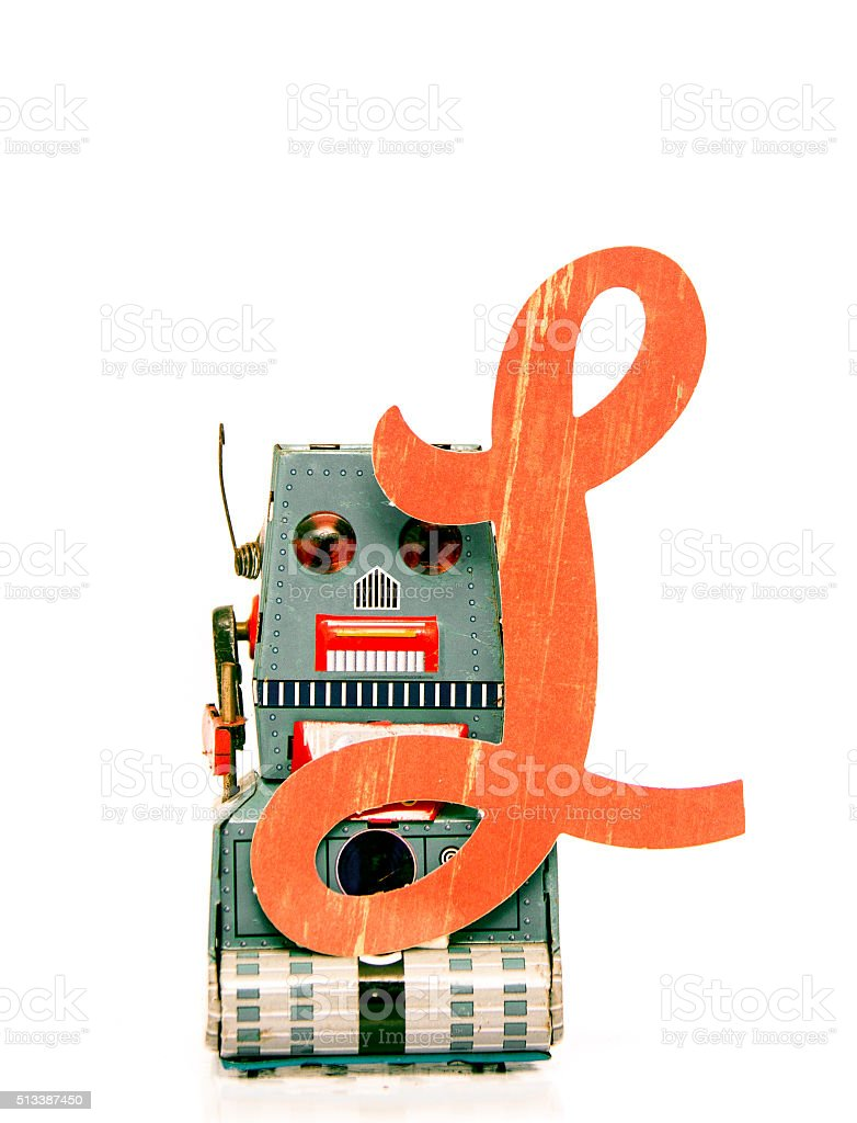 robot letters stock photo