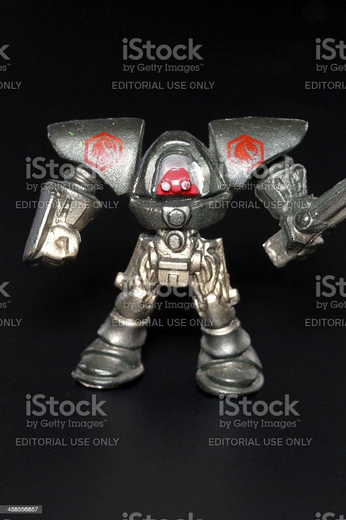 Robot on Black royalty-free stock photo