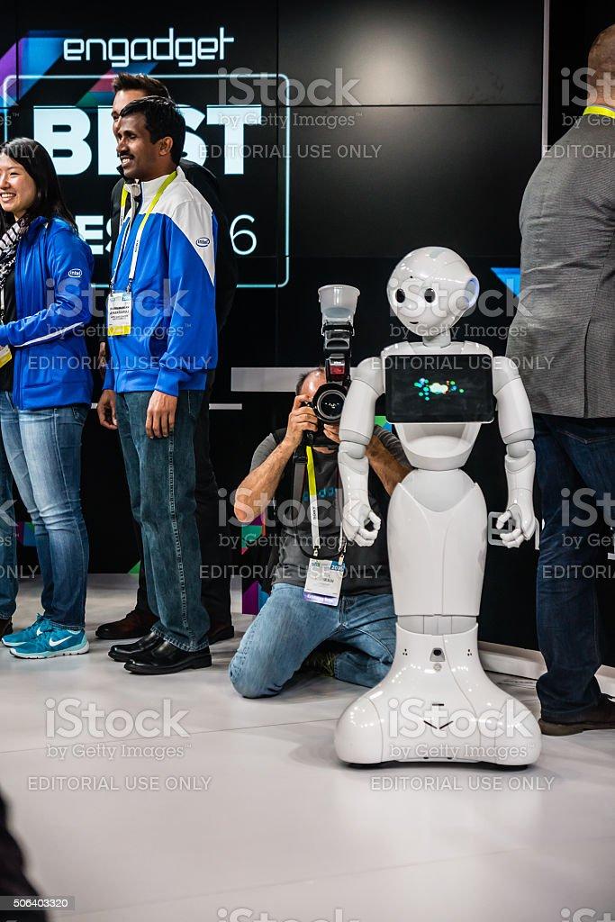 Robot or Robutt? stock photo