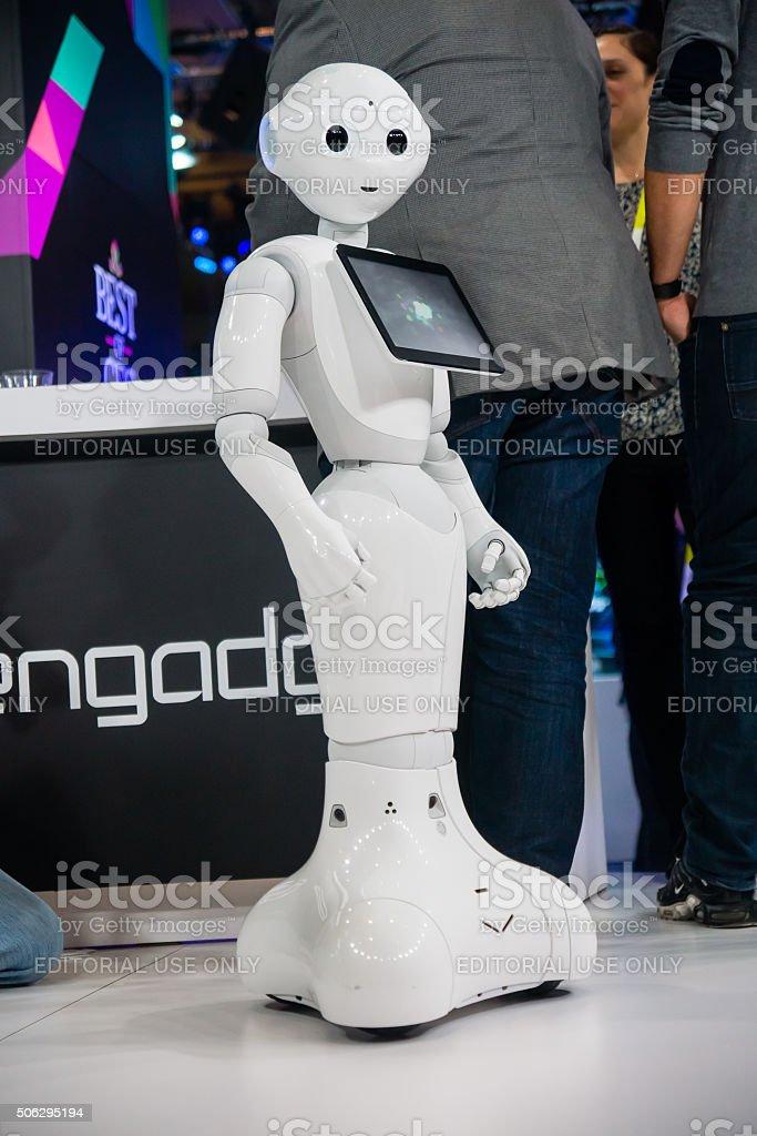 2016 CES Robot stock photo