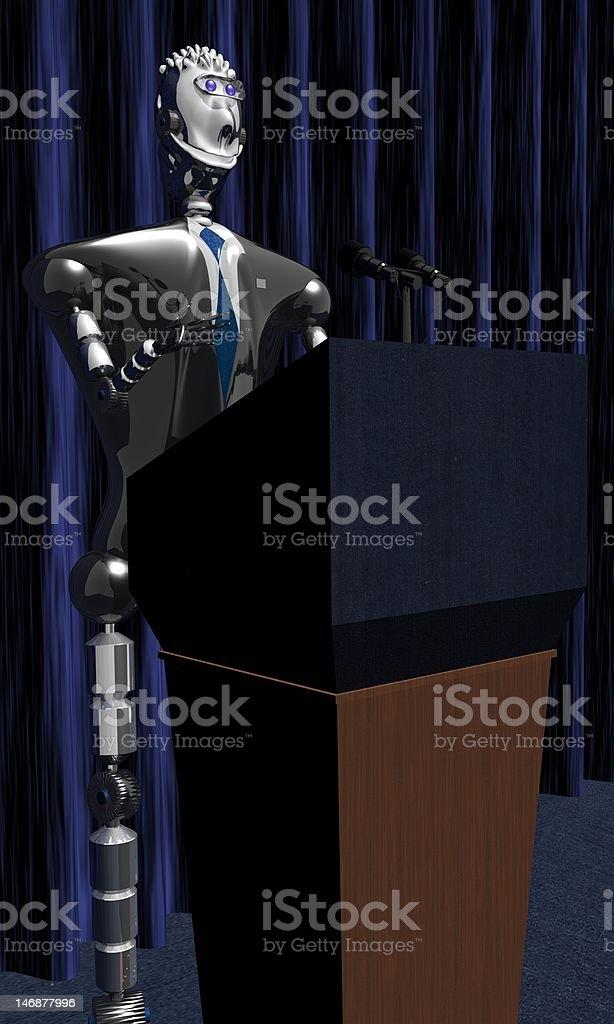 Roboter Präsident Lizenzfreies stock-foto