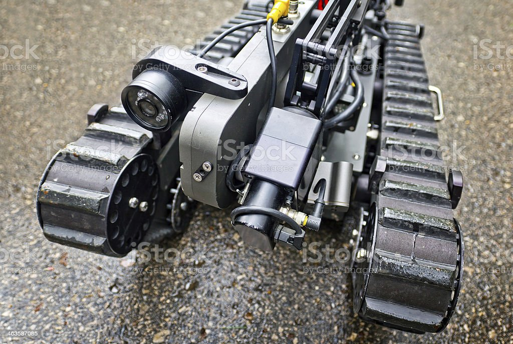 Robot sapper stock photo