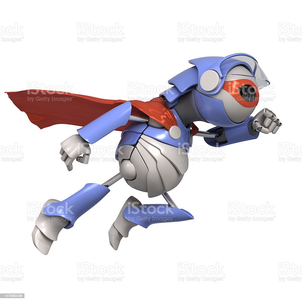 Robot superhero stock photo