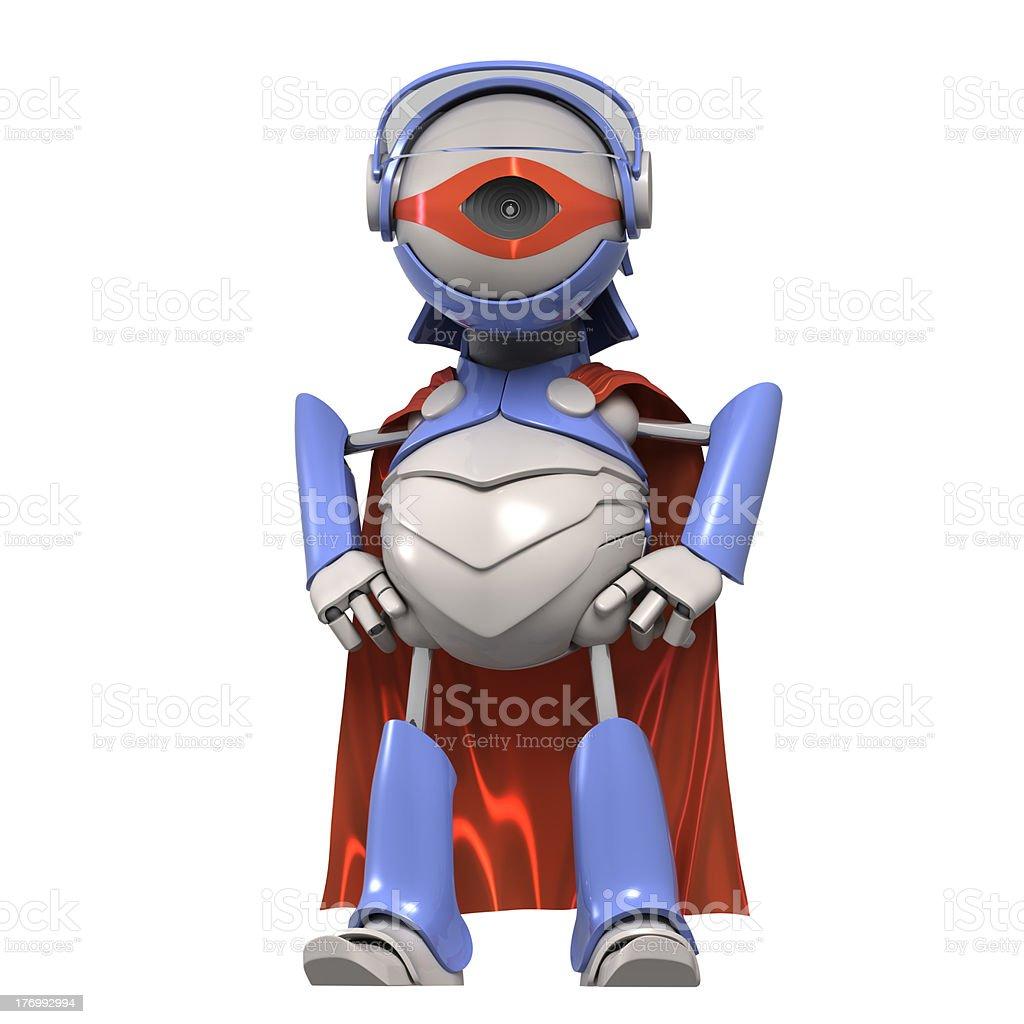 Robot superhero royalty-free stock photo