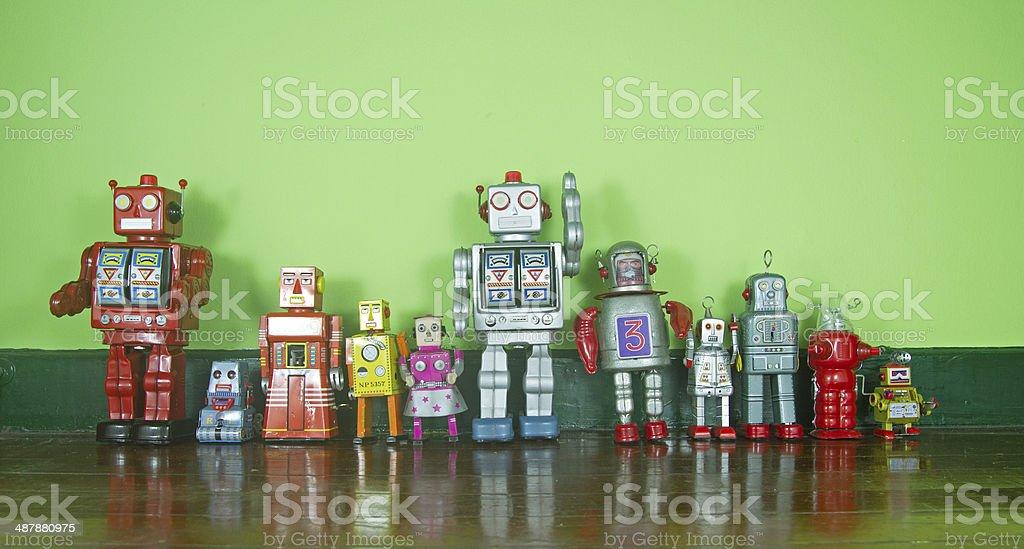 robot team stock photo
