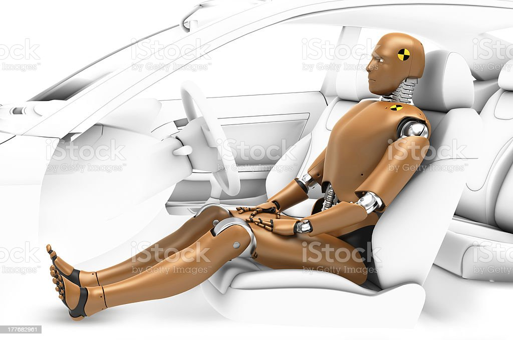 robot test in the car stock photo