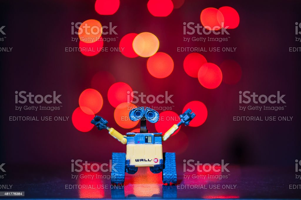 WALL-E robot toy animation film by Pixar Walt Disney Company. stock photo
