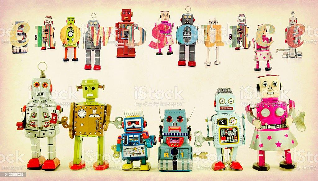 robot toys stock photo