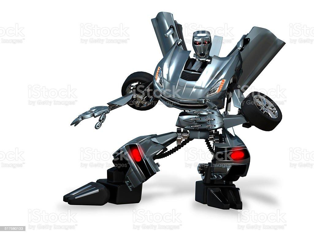 robot transformer stock photo