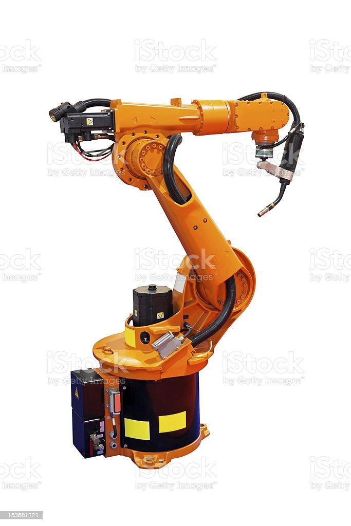 Robot welder stock photo