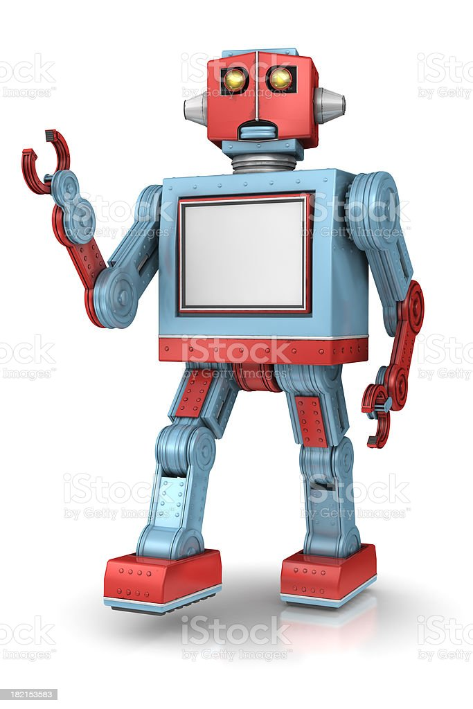 Robot with copy space stock photo