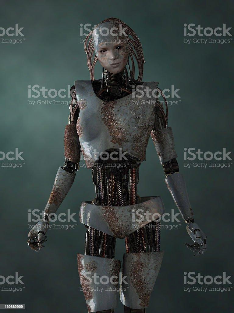Robot Woman (vinatage) stock photo