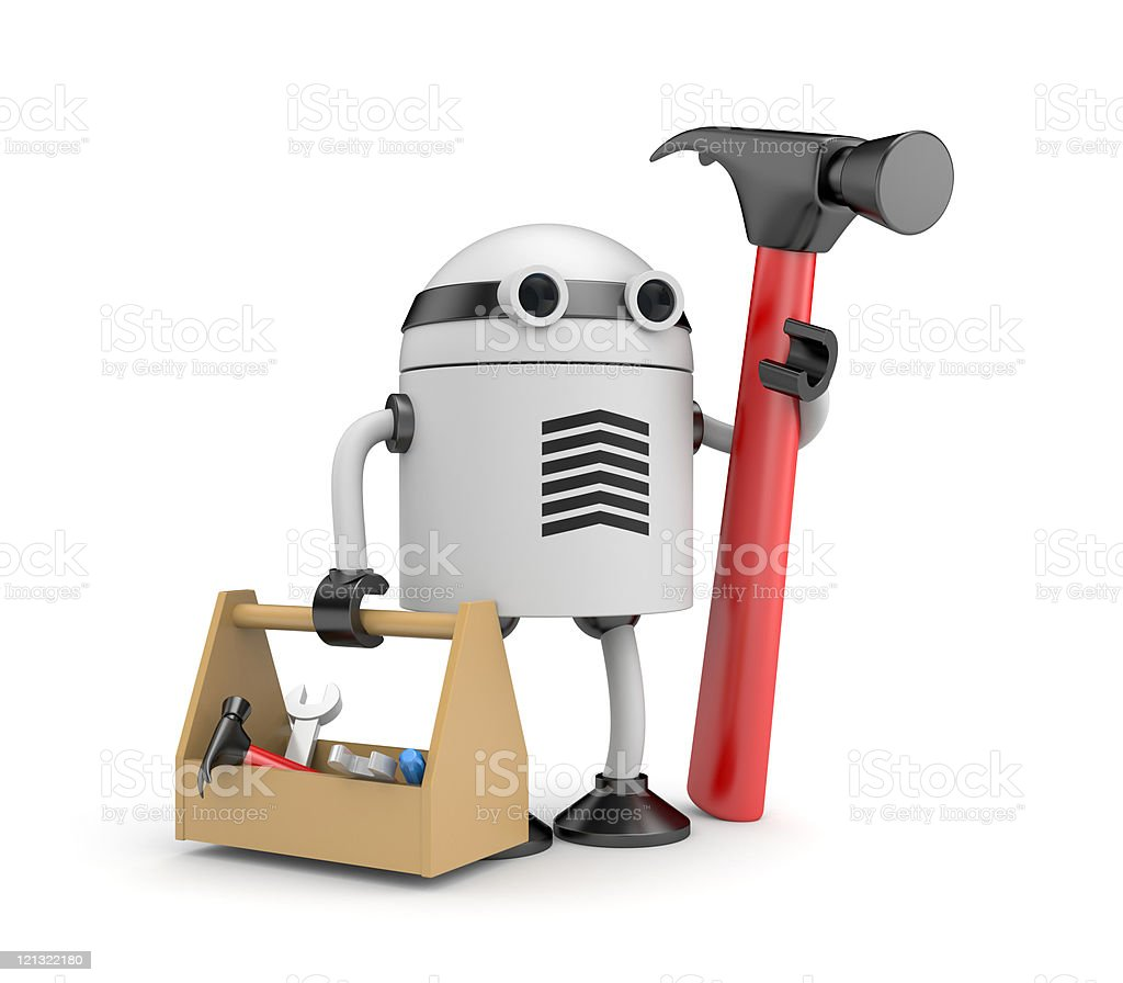 Robot worker royalty-free stock photo