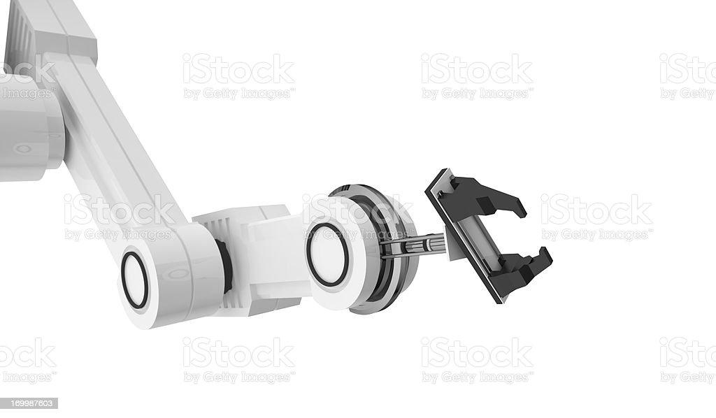 Robotic arm stock photo