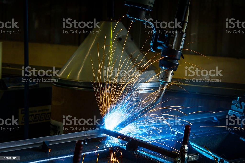 Robotic arm welding. royalty-free stock photo