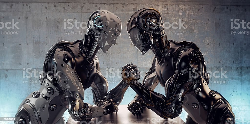 Robotic Arm Wrestling stock photo