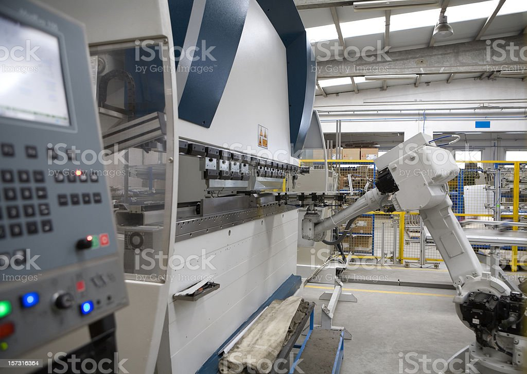 Robotic Bending Machine stock photo