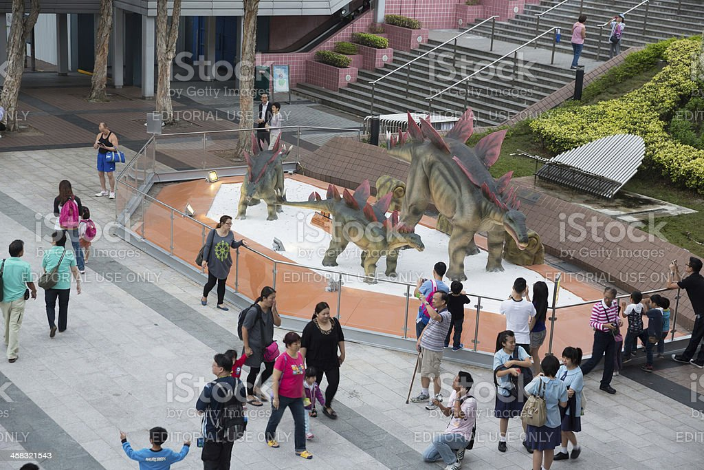 Robotic Dinosaurs in Hong Kong royalty-free stock photo